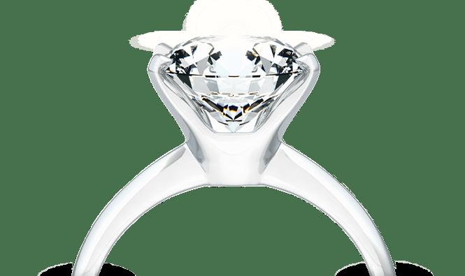 Pierścionek zbiałego złota